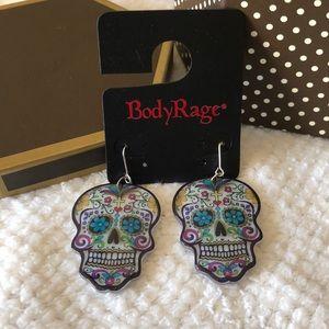 💀 Beautiful sugar skull earrings